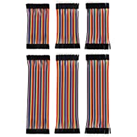 eBoot 240 Pieces Breadboard Jumper Wires Ribbon Cables Kit Multicolored 80 Pin M/ M, 80 Pin M/ F, 80 Pin F/ F (10 cm and 20 cm), for Arduino