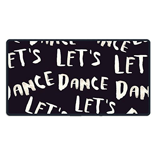 Perfect Gift - Extended Gaming Mouse Pads, Let's Dance Design Black Mouse Pad, Water-Resistant, Non-Slip, Personality Desings Gaming Mouse Pad Style 29.5 X 15.7 X 0.12 In React Dance Pad