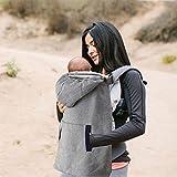 villexun invierno cálido bebé Carrier, resistente al viento bebé mochila Carrier capa manta con cálido bolsillo