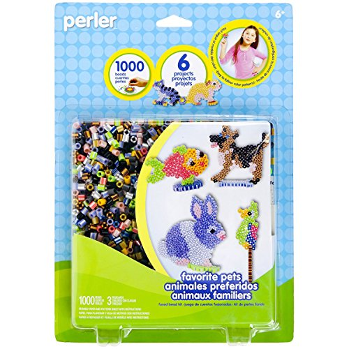 Perler Beads 'Cute Pets' Fuse Bead Activity Kit for Kids Crafts, 1004 -