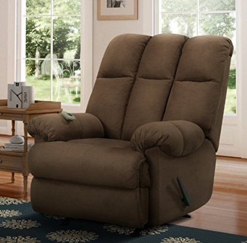 Price comparison product image Recliner Massage Chair,  Rocking Chairs For Adults,  Padded Microfiber,  Color Brown