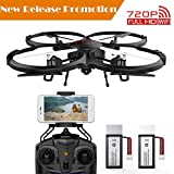 [2018 Upgraded] DBPOWER U818G FPV RC Drone with 720p HD Wi-Fi Camera Offering Real-time Video, Training Quadcopter for Beginners with Altitude Hold, One-Key Take-Off/Landing & Extra Battery