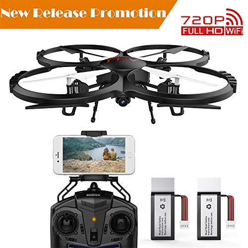[2018 Upgraded] DBPOWER U818G FPV RC Drone 720p HD Wi-Fi Camera Offering Real-time Video, Training Quadcopter Beginners Altitude Hold, One-Key Take-Off/Landing & Extra Battery