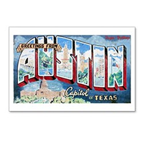 CafePress - Greetings From Austin - Postcards (Package of 8), 6