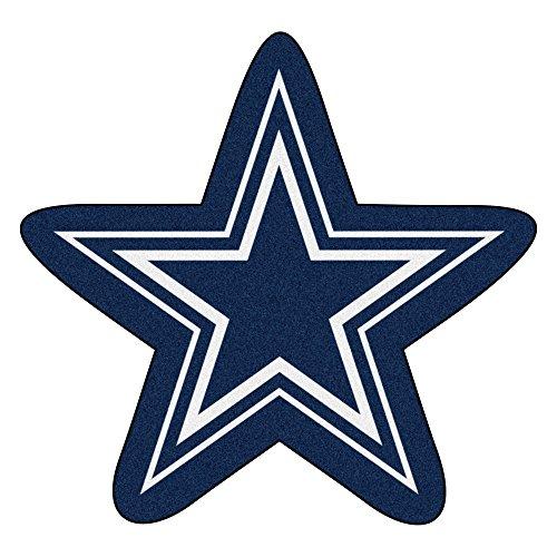 NFL Dallas Cowboys Mascot Novelty Logo Shaped Area Rug