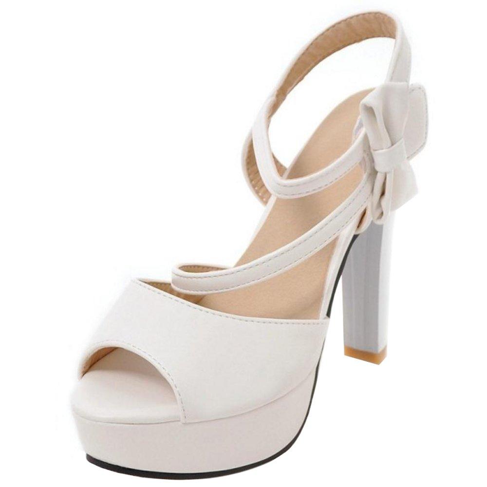 VulusValas Damen Lieblich Fersen Sandalen White2018 Letztes Modell  Mode Schuhe Billig Online-Verkauf
