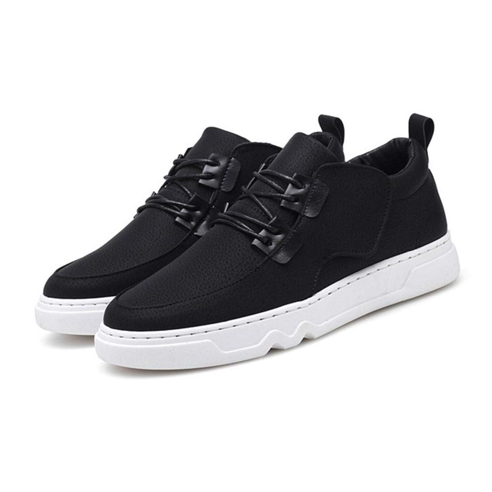 schuheDQ Lässige Herrenschuhe PU Größe 24,5 cm bis 27,0 cm Schwarz All Seasons Wear Board Schuhe Freizeit