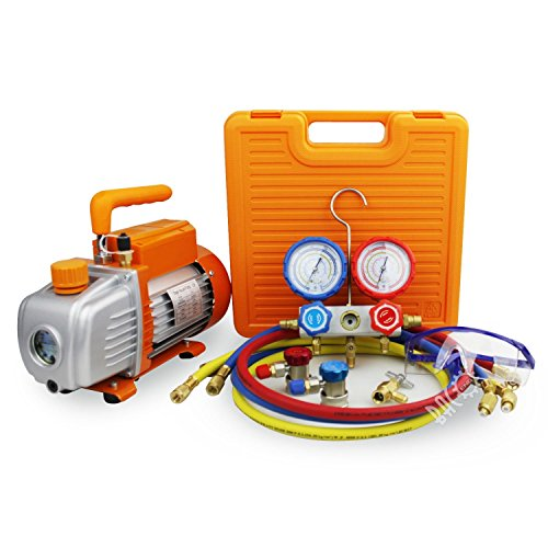 BACOENG 3.6CFM Vacuum Pump & Manifold Gauge Set - HVAC, used for sale  Delivered anywhere in USA