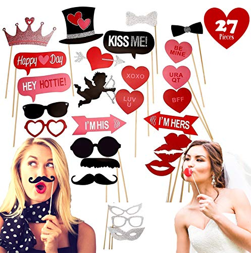 Wedding Photo Booth Props Funny Pose Sign Kit Bachelorette Birthday Party Decoration Supplies 27 piece