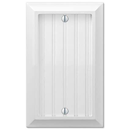 Amazoncom Cottage White Wood Single Blank Wall Switch Plate Outlet