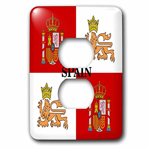 3dRose LLC lsp_60506_6 Historic Flag of Spains Royal Navy 2 Plug Outlet Cover by 3dRose
