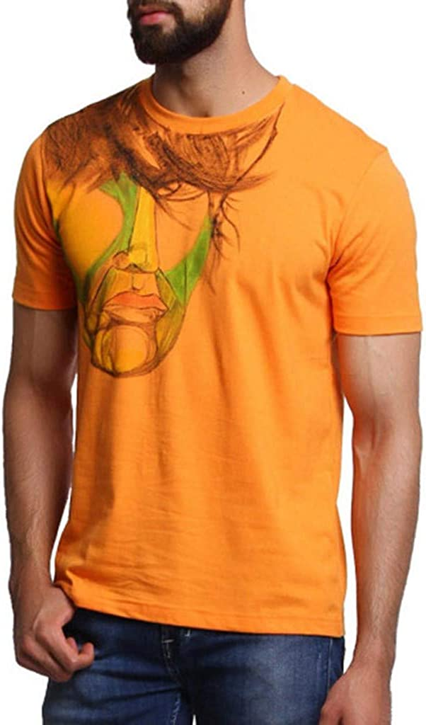 Shirt for Men F/_Gotal Mens T-Shirts Fashion Summer Short Sleeve Printing Loose Fit Casual Sport Tees Blouse Tops