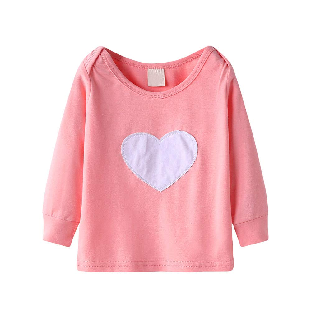 ALIKEEY Baby Clothes, Newborn Baby Boys Girls Long Sleeve Tops Heart Print T Shirt Clothes Outfits ALIKEEY01