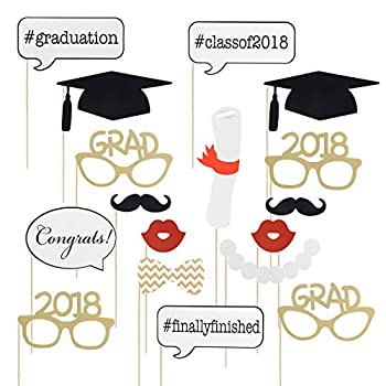 Graduation Photo Props Graduation Phtoto Booth Props Oulii 2018 Graduation Party Decorations Pack Of 17 0