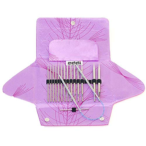 Knitting Circular Interchangeable Needles (addi Click Standard Rocket Lace Long Tip Interchangeable Circular Knitting Needle System with Exclusive Blue Cords)