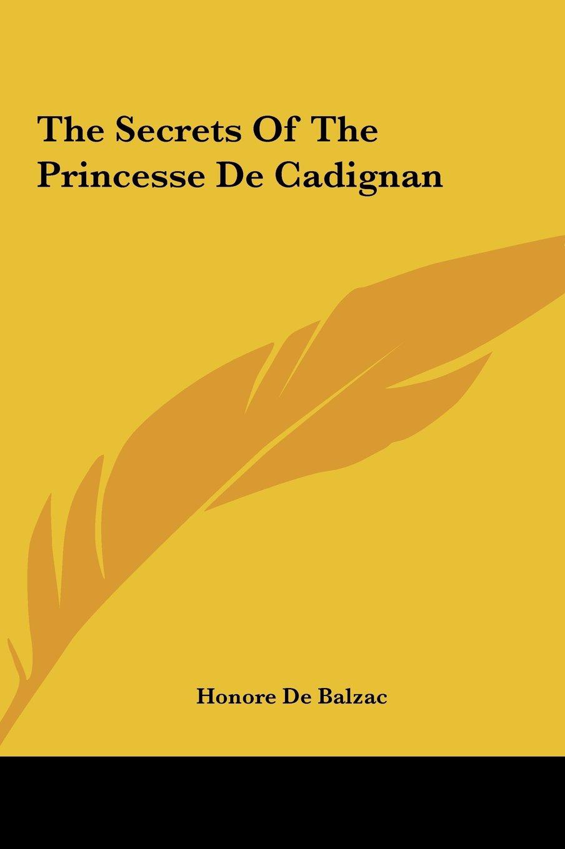 The Secrets of the Princesse de Cadignan pdf epub
