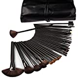eBoTrade-Tech 32 Pcs Professional Cosmetic Makeup Brush Set Kit with Synthetic Leather Case,Black