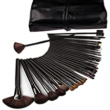 Yariew Professional Cosmetic Makeup Brush Set Kit with Synthetic Leather Case,black