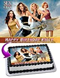 Sex and the City Edible Image Cake Topper Personalized Birthday 1/4 Sheet Decoration Custom Sheet Party Birthday Sugar Frosting Transfer Fondant Image ~ Best Quality Edible Image for cake