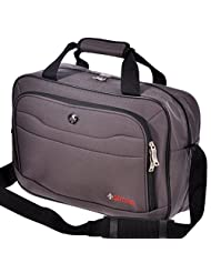 """Swiss Travel Products 16"""" Business Laptop Bag Charcoal"""