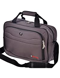 "Swiss Travel Products 16"" Business Laptop Tote Bag Charcoal"