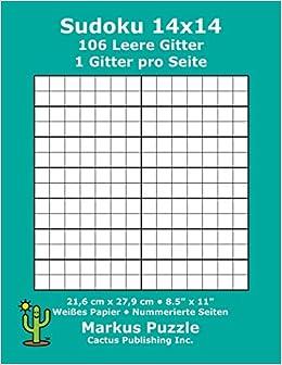 Sudoku 14x14 106 leere Gitter: 1 Gitter pro