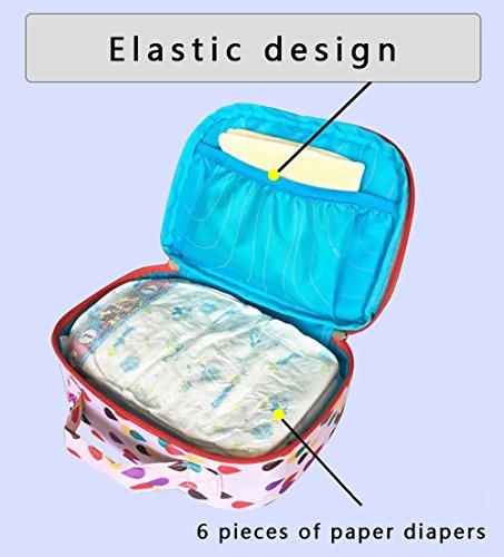 Zipper el bolso del pañal, bolso del almacenaje, bolso de la momia, paquete del acabamiento ( Color : Azul ) Pink