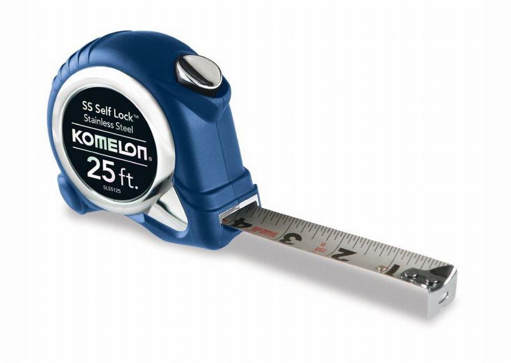 Komelon USA SLSS125 1'' X 25' Stainless Steel Self Locking Tape Measure
