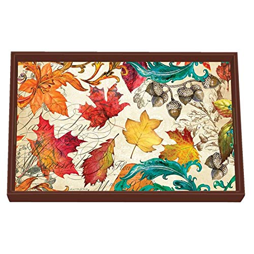 (Michel Design Works Vanity Decoupage Wooden Tray, Fall Symphony)