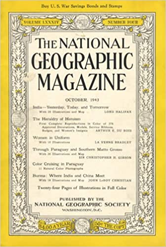 Amazon.com: The National Geographic Magazine, October 1943 ...