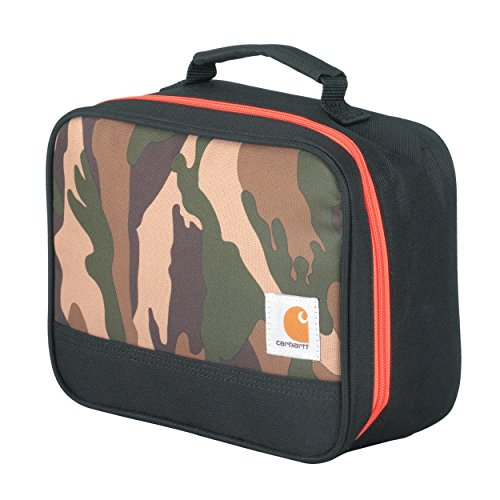 Carhartt Kids' Insulated Soft-Sided School Lunchbox, Camo Print