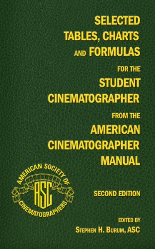 Selected Tables, Charts and Formulas for the Student Cinematographer from the American Cinematographer Manual Second Edi