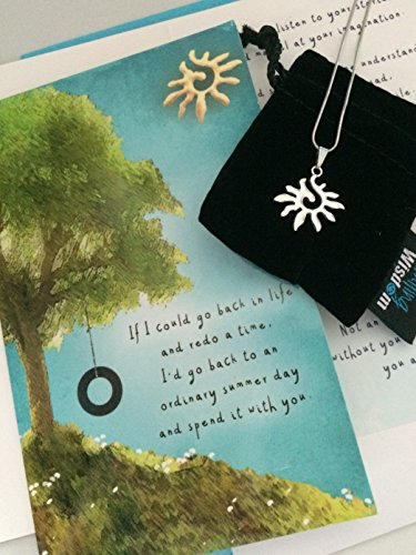 Smiling Wisdom - Sun Swirl Necklace, Ordinary Summer Day Gift Set - Unisex Pendant, Son, Daughter, Teenager, Friend, Sister - Acknowledgment, Appreciation - From Mom or Dad - Summer Jewelry ()