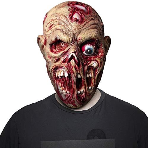 Is Halloween Horror Nights Really Scary (Demi Sharky Halloween Costume Scary Mask Horror Bloody Skull Latex)