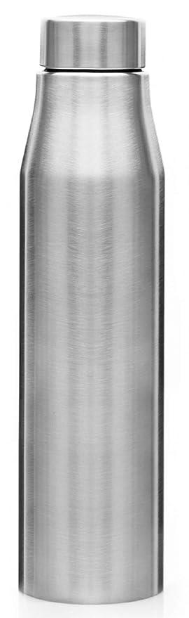 Signoraware Hunt Single Walled Stainless Steel Fridge Water Bottle, 500 ml, Silver