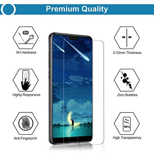 CRXOOX Cristal Templado para Huawei P20, Protector de Pantalla, [2-Unidades], 9H Dureza, Alta Definicion 0.33mm, 2.5D Round Edge: Amazon.es: Electrónica