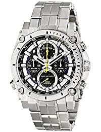 Bulova Precisionist Chronograph Stainless Steel Mens Watch 96G175
