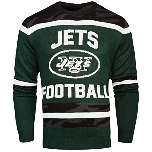 FOCO New York Jets Ugly Glow In The Dark Sweater - Mens - Mens Double Extra Large by FOCO