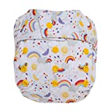#8: GroVia Reusable Hybrid Baby Cloth Diaper Snap Shell (Rainbow Baby)