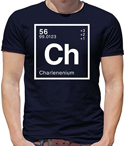 Charlene - Periodic Element - Mens Crewneck T-Shirt - Navy XL ()