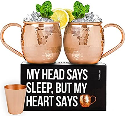 Mule Moscow Safe And Weight Coasters 100Copper Glass Lacquer OzHeavy Shot Set16 With Mugs 2 Cups Food 3 Includes SzMVjqLUpG