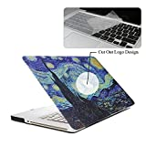 Rinbers 3D Print Ultra Slim Soft-touch Rubberized Hard Shell Case Snap-On Top&Bottom Hard Cover Case for MacBook Pro 13 13.3 inch NON Retina Display (Model: A1278) - Van Gogh Galaxy Starry Night