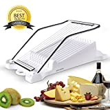 ham cutting machine - Luncheon Meat Boiled Egg Fruit Slicer Soft Food Cheese Sushi Cutter Canned Meat Cutting Machine with 10 Singing Cutting Wires Stainless Steel in White
