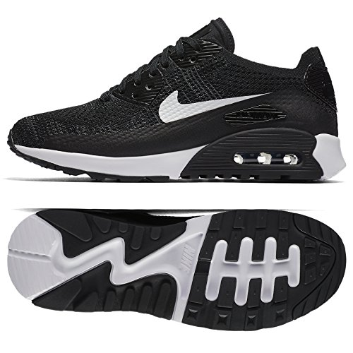 Nike Womens Air Max 90 Ultra 2.0 Flyknit Running Shoe (7.5 M US, Black/Dark ()