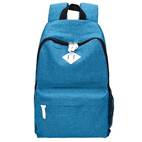 Adi Designs Backpack (School Backpack,Bagerly Lightweight Canvas School Backpacks Book Bags Shoulder Daypack Causal Travel Backpack Laptop Bag (Blue02))