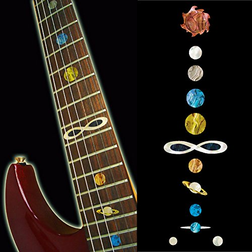 Fretboard Markers Inlay Sticker Decals for Guitar & Bass - Planet - Inlay Abalone Fingerboard