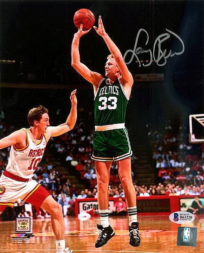 Larry Bird Signed 8x10 Photo Boston Celtics - Beckett Authentication