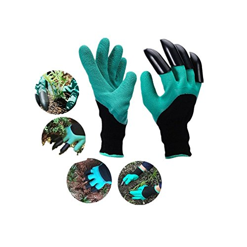 Garden Genie Gloves with Claws Laborer for Digging and Planting Quick & Easy to Dig & Plant Nursery Plants ,Safe for Rose Pruning - As Seen On TV (Right Hand Claw 1 pair)