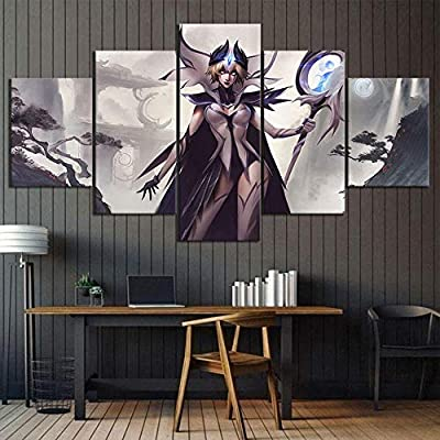 Zdlyy 5 Canvas Paintings Home Decoration 5 Piece Skin