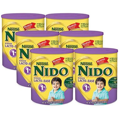 Nestle NIDO Kinder Lacto-Ease 1+ Powdered Milk Beverage (1.76 lb., 6 pk.) by hitech novelties